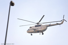 Military Choppers monitoring clashes from above