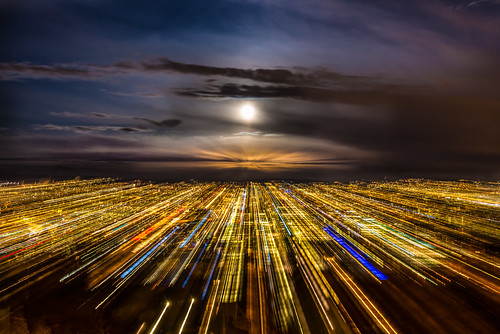 city longexposure light sky cloud moon color oslo norway night clouds speed nikon zoom perspective fullmoon le citylights depth d800 lightstream 2470 speedoflight