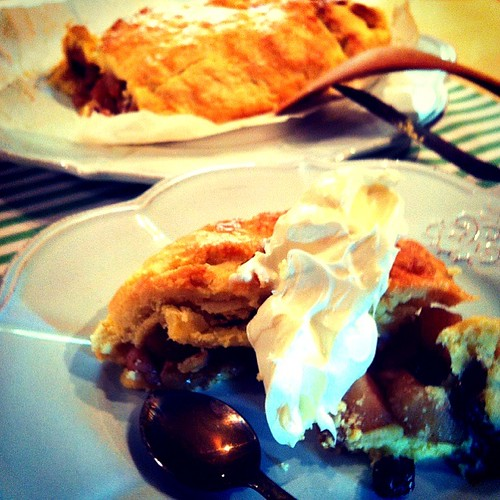 Spiced Apple Walnut Pie with Parmesan Cheese Crust.