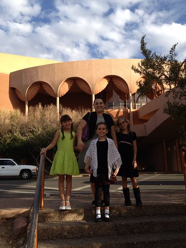 Mommy and the Girls at ASU Gammage for Beauty and the Beast