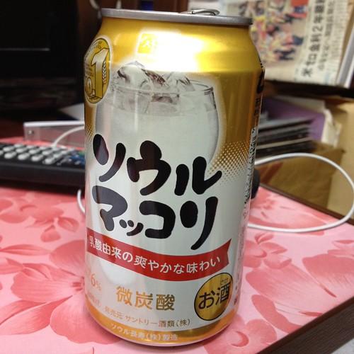 ソウルマッコリ もっとうまいかと思ったが by haruhiko_iyota