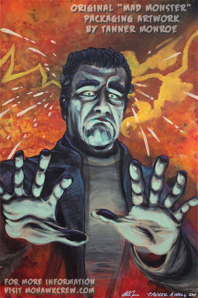 """The Monster Frankenstein"" Original Painting by Tanner Monroe"