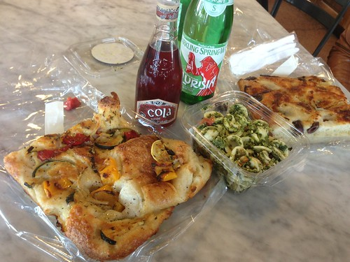 Tarry Market Focaccia with Pasta Salad and Cola