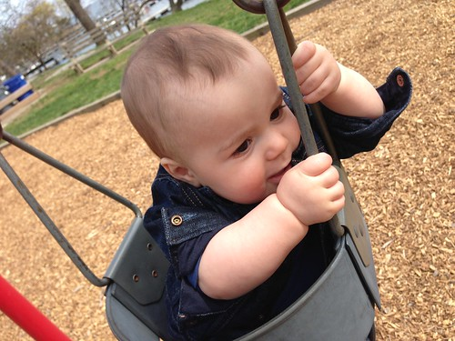 Elliott's First Time On Swing