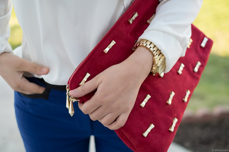 zara bow clutch