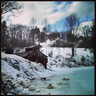 A little chilly for #newhampshire #maple #sugarhouse open house weekend! #sugarshack #newengland #winterwontend