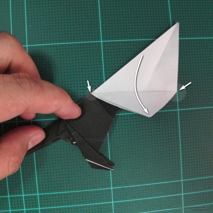 วิธีการพับกระดาษเป็นรูปจิงโจ้ (Origami Kangaroo) 022