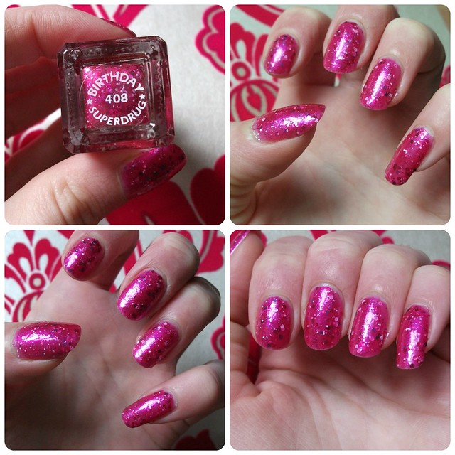 NOTD Barry M Superdrug 50th Birthday Polish Pink Glitter