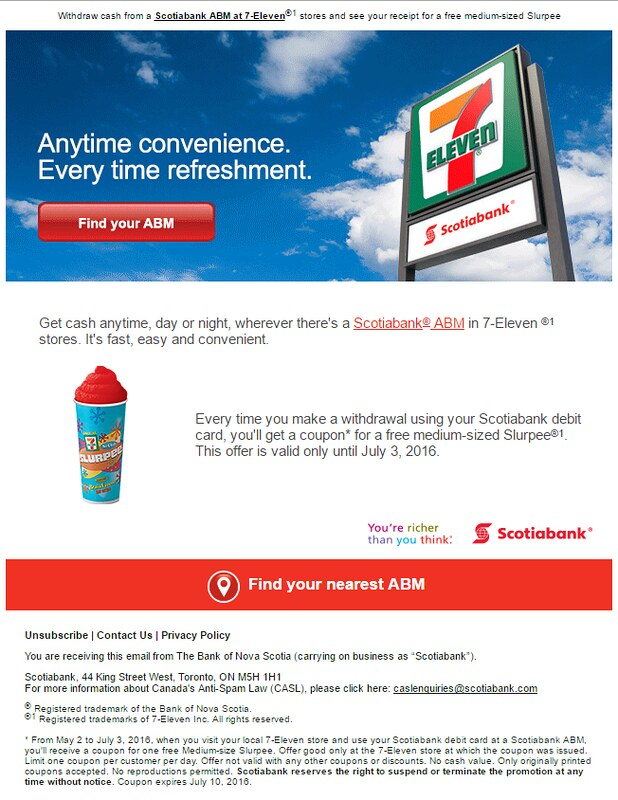 2016-May-2 Scotiabank ABM gives free Slurpee