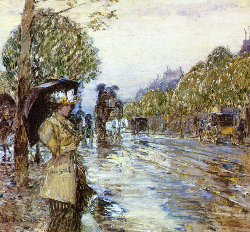 Rainy Day, Paris by Frederick Childe Hassam - 1893