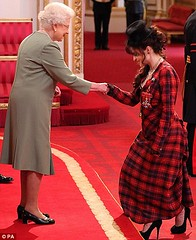 Helena Bonham Carter recieves CBE
