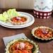 Tartellette integrali al pesto con pomodorini alla vaniglia