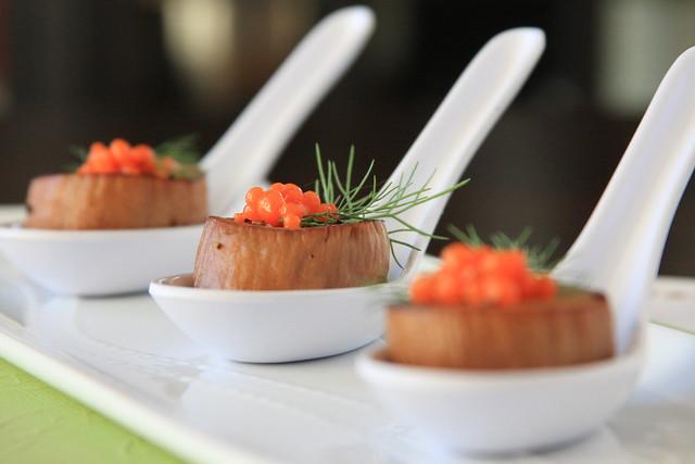 Molecular Vegan: Scallops with Carrot-Ginger Caviar