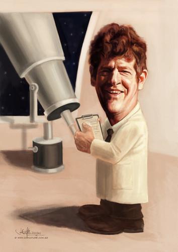 astrologist digital caricature
