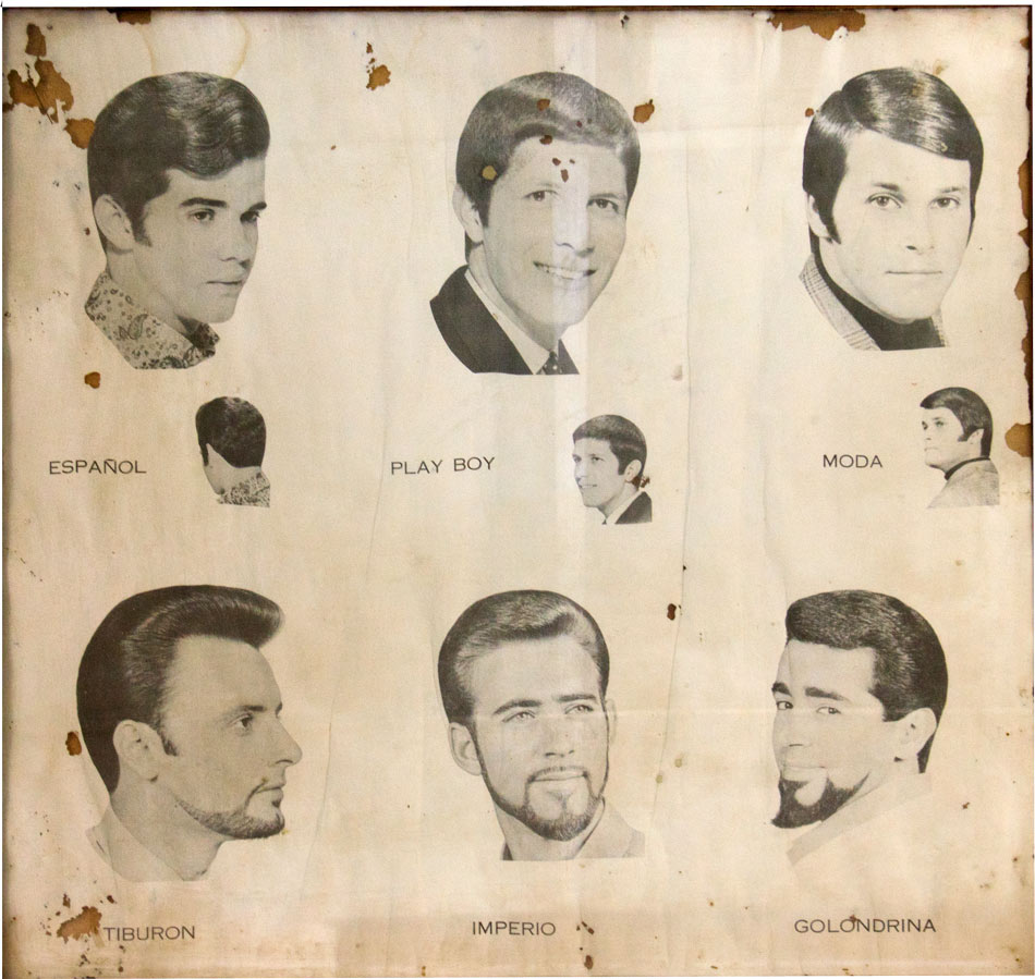 Weird Beards: Vintage Barbershop Posters from Guatemala, Starring Ricky Gervais and Tony Danza?