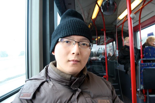 On ACTV bus from Marco Polo Airport to Piazzale Roma