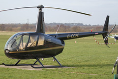 G-CCFC - 2003 build Robinson R44 Raven II, parked at the VC at Barton