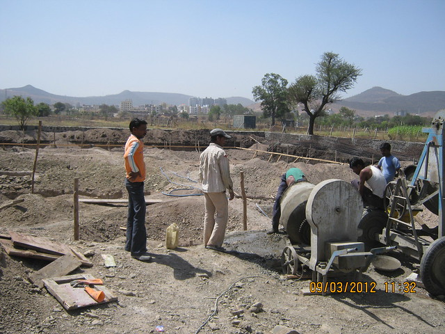 Foundation works of Sanjeevani Developers' Sangam at Sus Pune