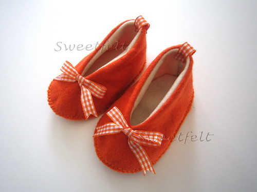 ♥♥♥ Para os pézinhos das meninas fofinhas... by sweetfelt \ ideias em feltro