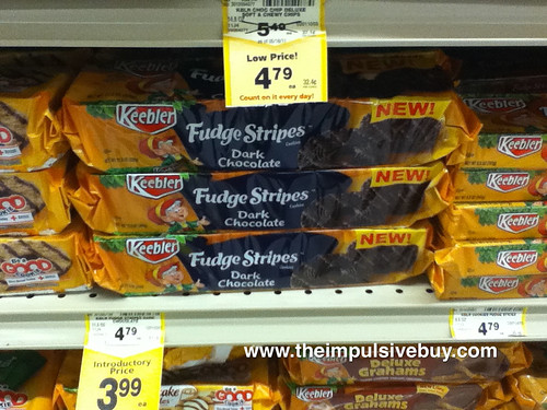 Keebler Dark Chocolate Fudge Stripes on shelf