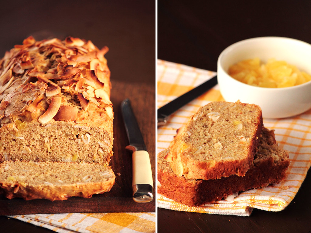 Coconut Pineapple Banana Bread