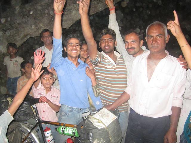 cheering in Jahanabad