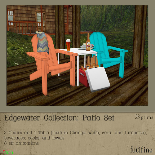 fucifino.edgewater collection patio set for SBS 3/17