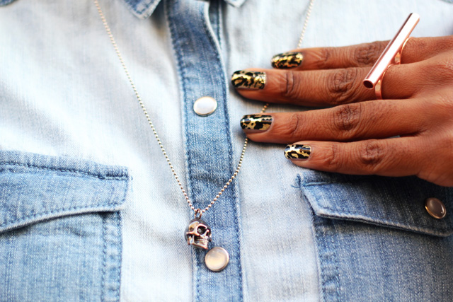 marc by marc jacobs skull necklaces nail wraps monki ring