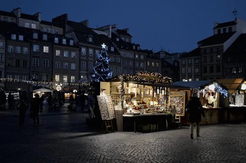 Warsaw christmas market