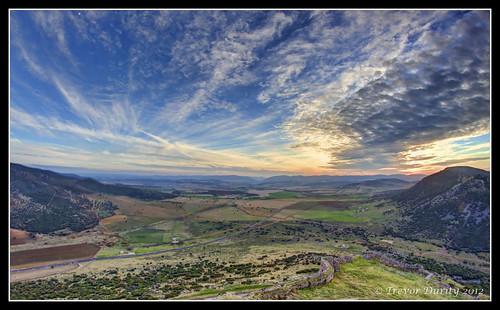 sunset mountain landscape landscapes spain view peak 7d vista ciudadreal castillalamancha canon7d samyang8mm ciudadrealspaincastillalamancha