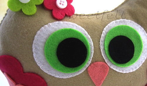♥♥♥  I'm watching you... O.O by sweetfelt \ ideias em feltro