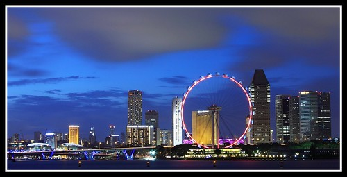 Singapore Skyline from Marina Barrage