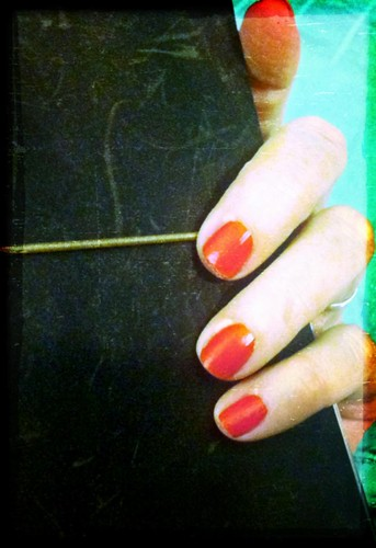 elf nail polish, fire coral