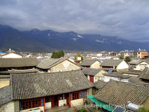 view of rooftops of Dali Yunnan China