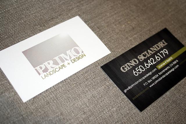 Primo Landscape + Design Cards