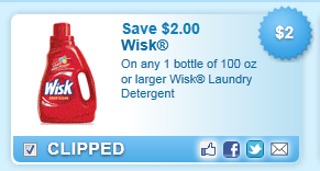 Wisk Laundry Detergent Coupon