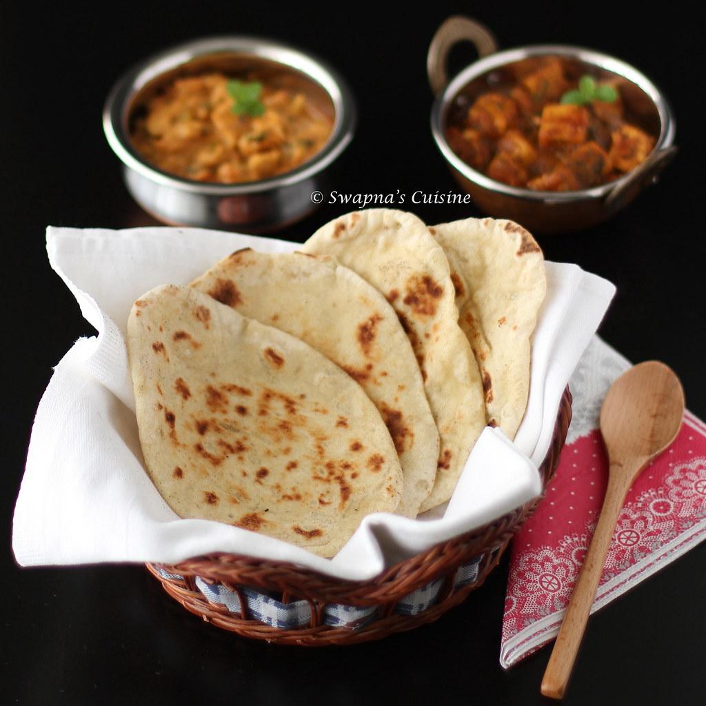 Swapna's Cuisine: Homemade Garlic Naan