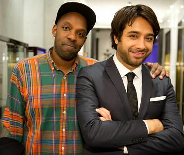 Juno Award winning rap artist, Shad and Jian Ghomeshi, host of Q on CBC