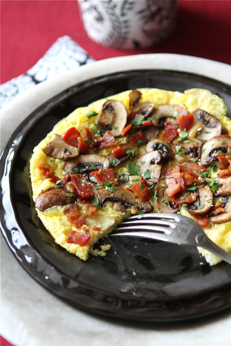 Frittata-Recipe-with-Pancetta-Mushrooms-&-Roasted-Garlic-Cookin-Canuck