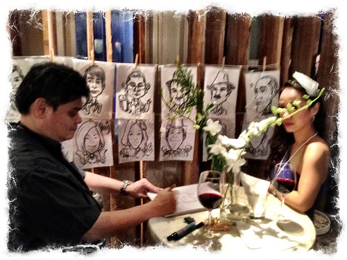 Caricature live sketching for Diageo Singapore Pte Ltd - g