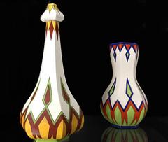 art, yellow, vase, ceramic,