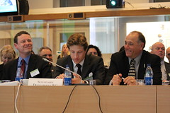 Delegates enjoying a laugh