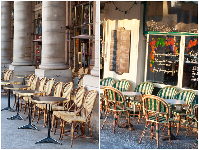 Chairs outside cafe Coll