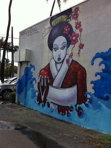 Dangerous looking street art by Pow Wow Hawaii 2012
