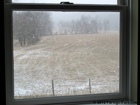 Snowfall through the upstairs windows 6 - FarmgirlFare.com