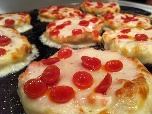 Snow day mini pizzas!!!