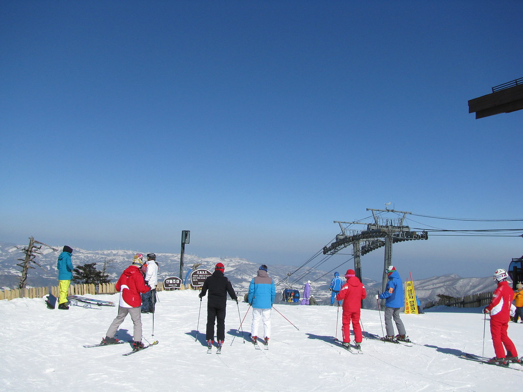 Skiing at Yong Pyong Korea