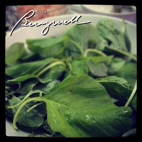 Cooking Spinach and Cheese