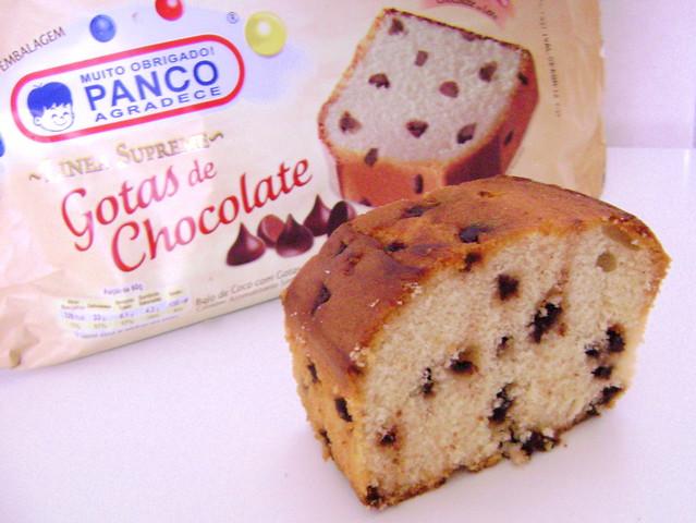 Bolo Panco com gotas de chocolate
