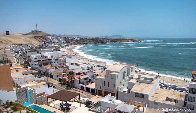 Playa Blanca at Punta Hermosa, south of Lima